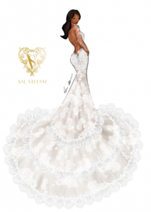 """""""That's So Serena Williams!"""" Check Out Her Wedding Gown Prediction: Sketches by Val Stefani!"""