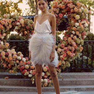 Cutting the Standard Short Lela Rose Bridal fall 2020