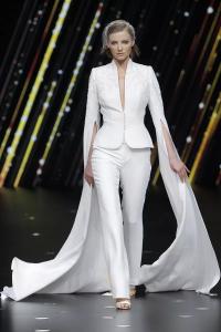 Feminine Fancies Pants Pronovias Spring 2020 Look 2