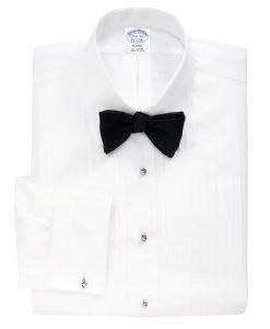 Golden Fleece Madison Fit Swiss Pleat Tennis Collar French Cuff Tuxedo Shirt