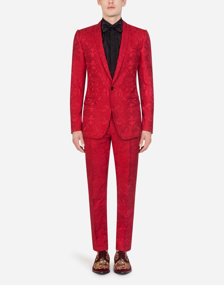 Jacquard Martini suit Dolce and Gabbana groom