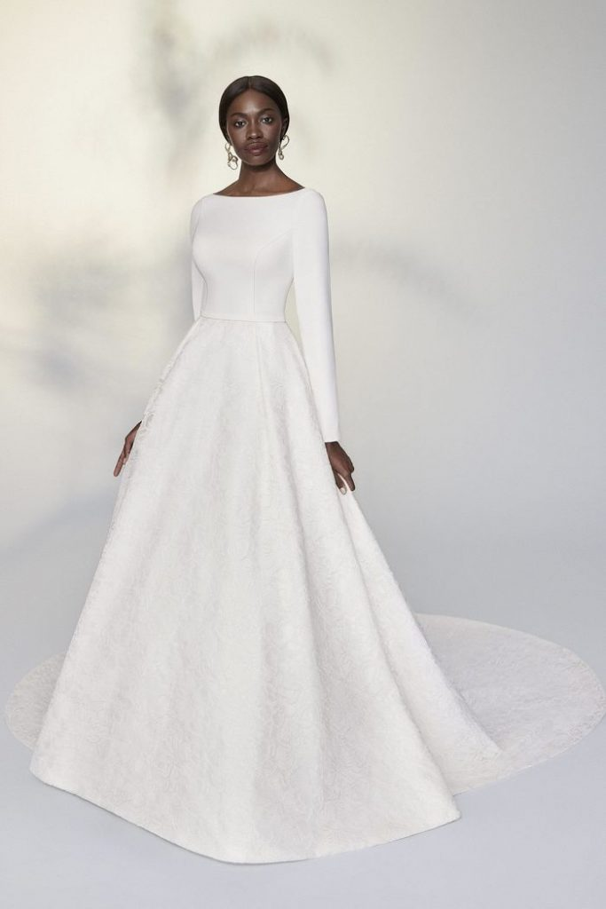 Justin Alexander Bridal Signature Long Sleeve Ball Gown